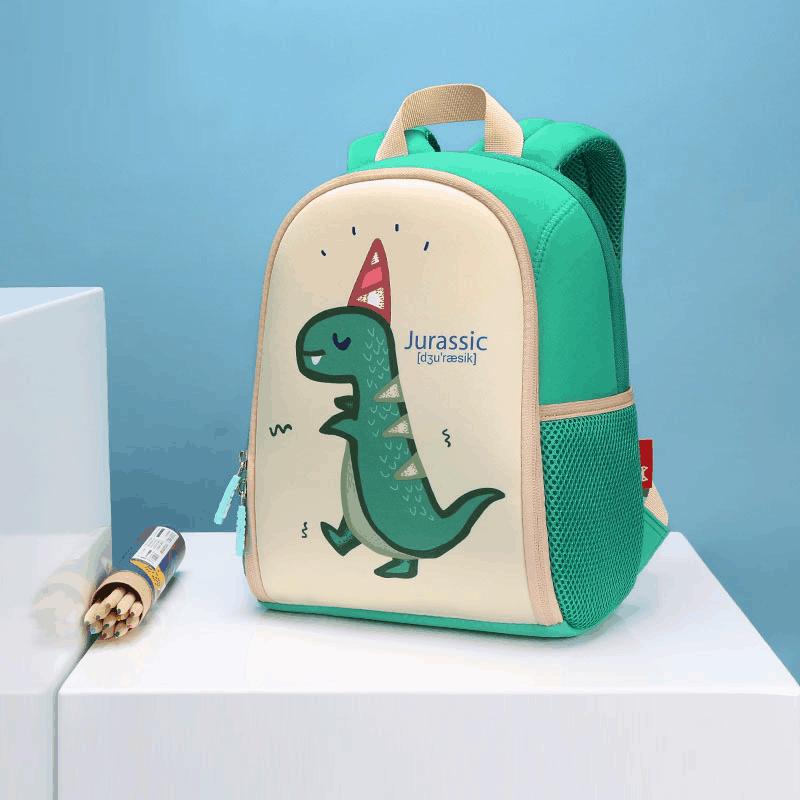 Детска 3D раница Динозавър Раптозавър зелен