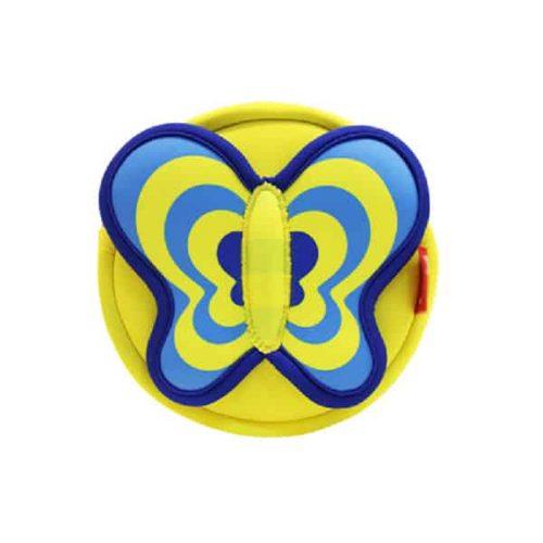 Детска 3D чанта за през рамо Пеперуда жълта