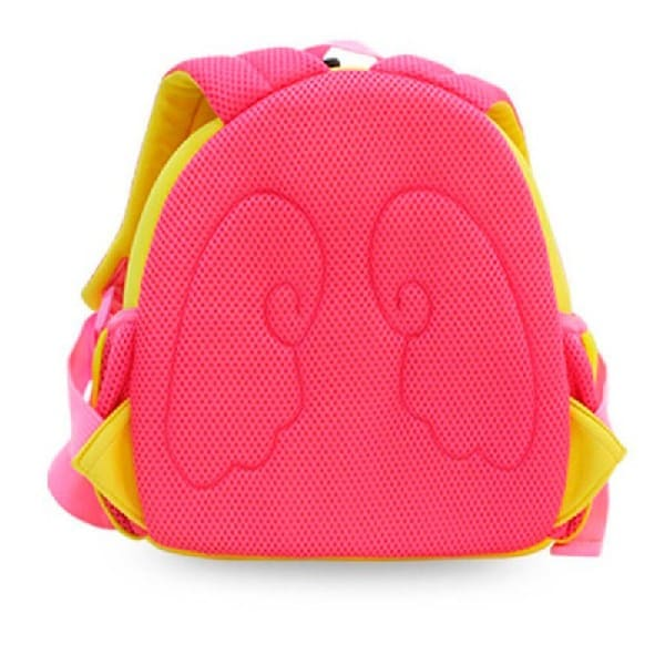 Детска 3D раница Ангел жълто с розово