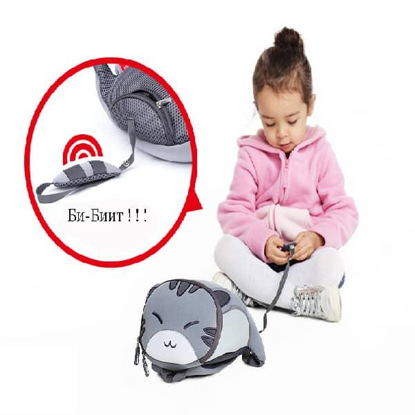 Детска 3D раница Коте голямо с родителски контрол