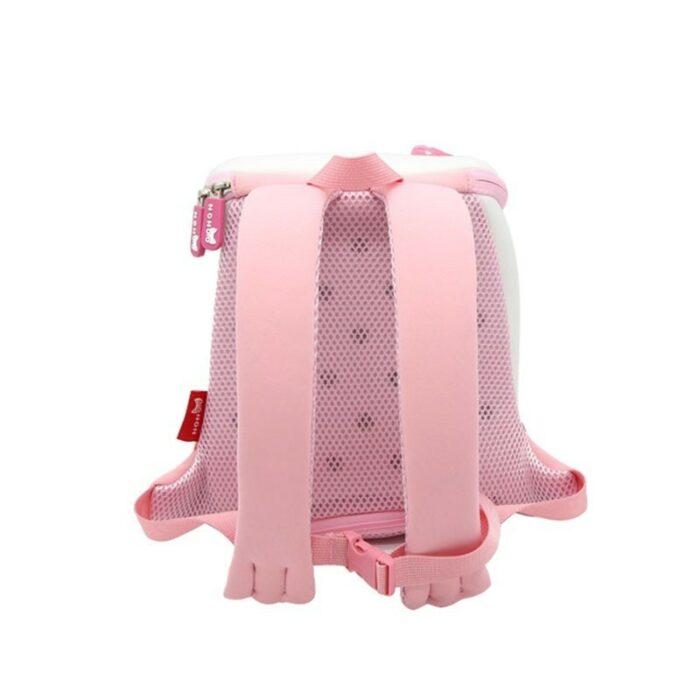 Детска 3D раница Коте Розово с родителски контрол