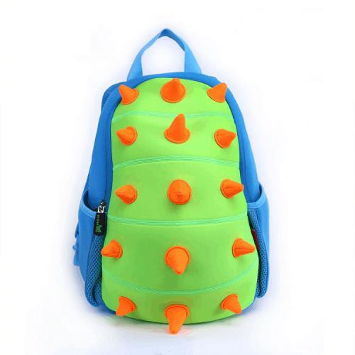 Детска 3D раница Динозавър Стегозавър зелен
