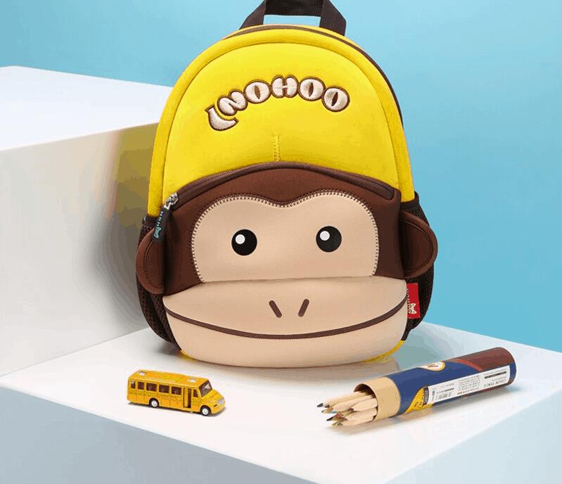Детска раница Маймунка кафява