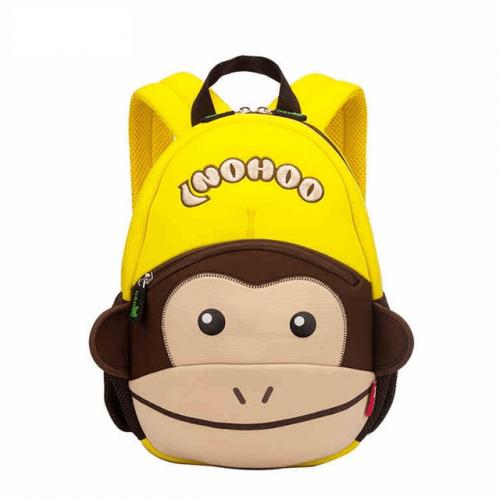 Детска 3D раница Маймунка кафява