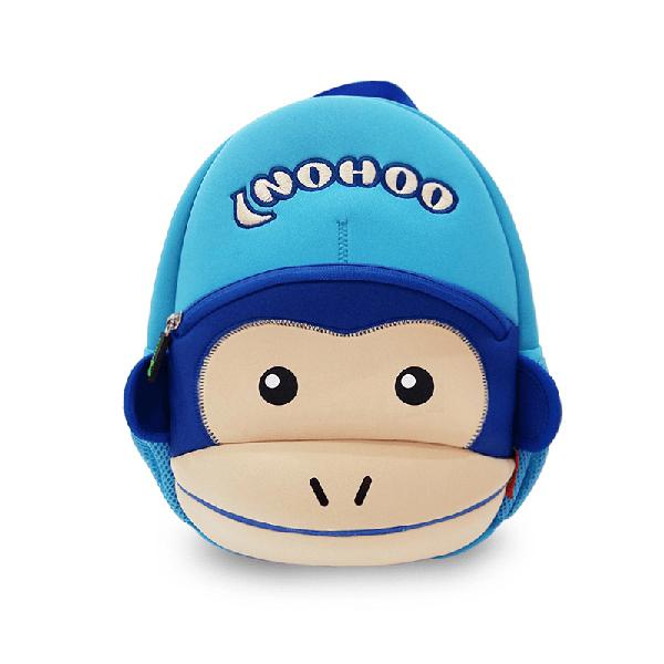 Детска 3D раница Маймунка синя