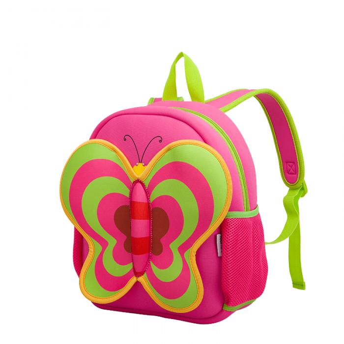 Детска 3D раница Пеперуда розова