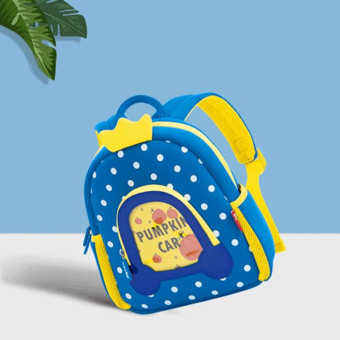 Детска 3D раница Каляската на Пепеляшка синя