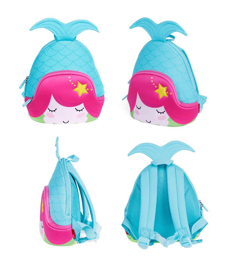 Детска 3D раница Русалка синя