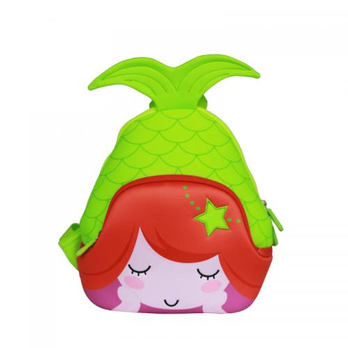 Детска 3D раница Русалка зелена
