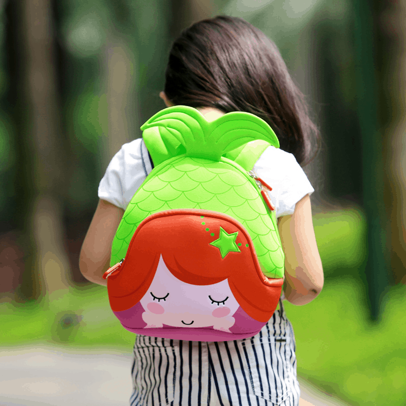 Детска раница Русалка зелена
