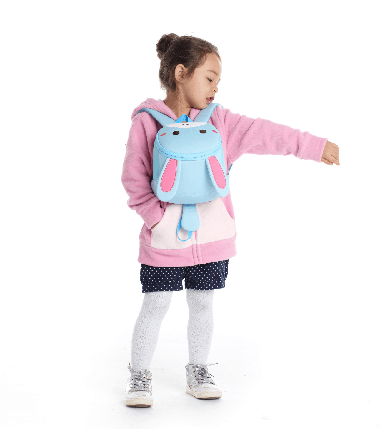 Детска 3D раница Зайче голямо с родителски контрол NoHoo BG